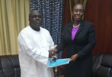 Chief of Staff receiving the report from the Attorney General
