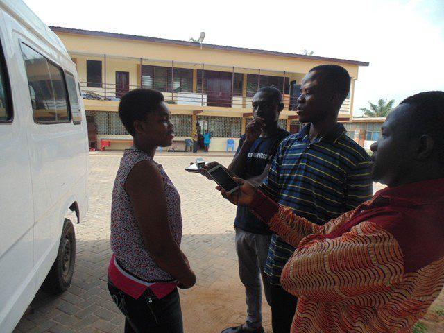Anita Nana Asabea Akonor speaking to some journalists