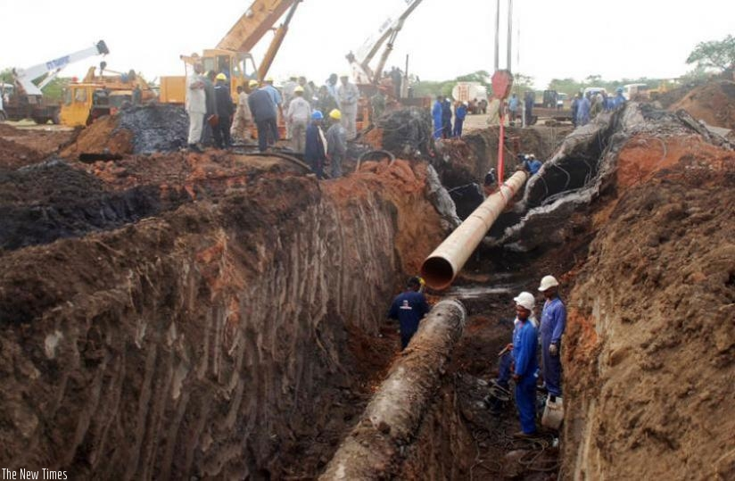 The first phase of the proposed Eldoret-Kampala-Kigali pipeline for refined petroleum products will end in 2017. (Net photo)
