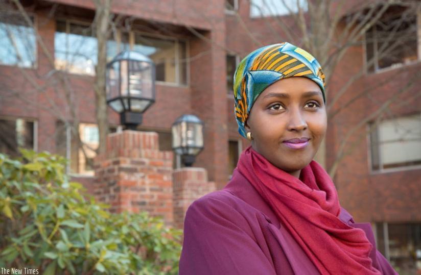 Dayid is Somalia's first female candidate. (Net photo)