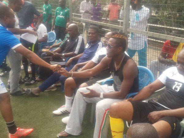 Asamoah Gyan at Ghana FA gala.