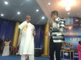 Daddy Lumba and Isaiah Kwadwo Ampong performing on album launch platform
