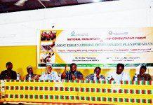 Dignitaries at the forum