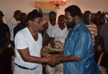 Joshua Attoh Quarshie, veteran Politician commending AMA Boss Dr. Alfred Oko Vanderpuijie