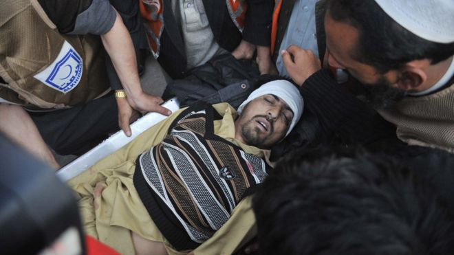 The attack has been claimed by a faction of the Pakistani Taliban