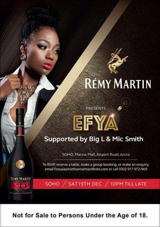 Rémy Martin present Efya at SOHO