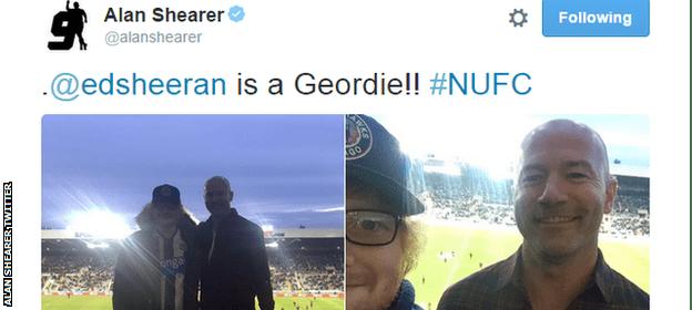 Alan Shearer and Ed Sheeran