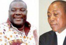 Justice John Ajet-Nasam (L) and Justice Ernest Obimpeh (R)