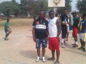 Kwesi Appah and OWASS head coach KT