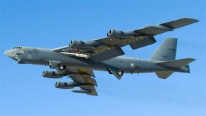 This May 26, 2010 US Air Force file photo shows a B-52 Stratofortress during testing of the X-51A WaveRider
