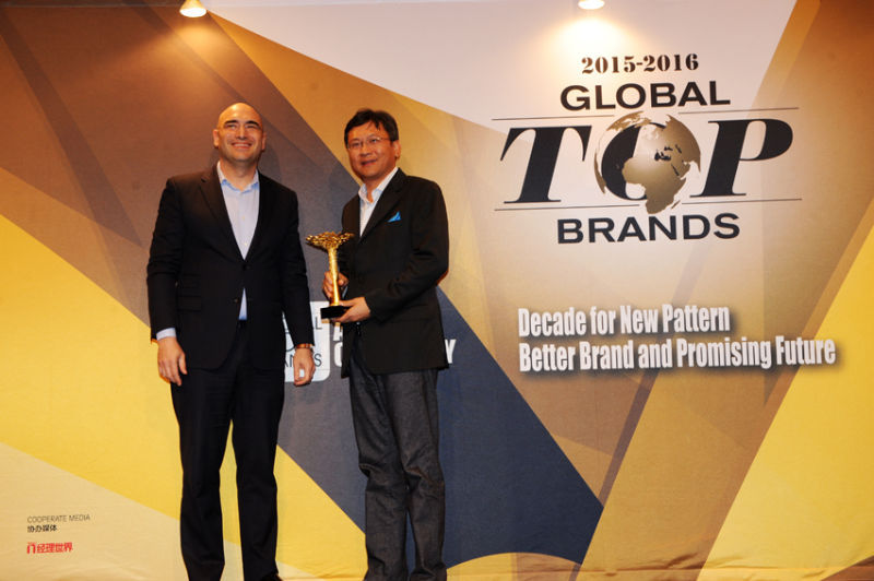 ZTE recognized at IDG's Global Top Brands Awards Ceremony (Photo: Business Wire)