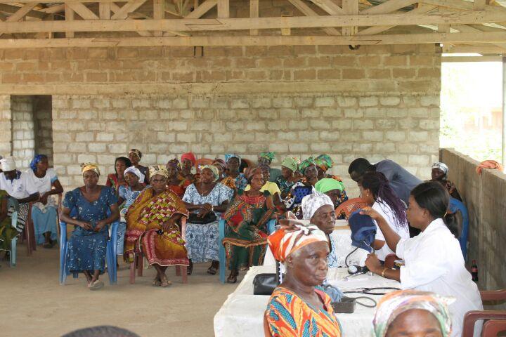 some of the widows waiting to undergo health screening