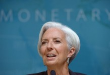 File photo taken on June 16, 2014 shows International Monetary Fund(IMF) Managing Director Christine Lagarde speaking during a press conference at the IMF headquarters in Washington D.C., the United States. IMF on Friday announced that it selected Christine Lagarde to serve as its leader for a second five-year term. (Xinhua/Yin Bogu)