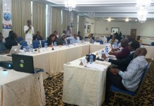 Image shows participants at the roundtable discussion