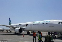 Daallo Airlines plane.