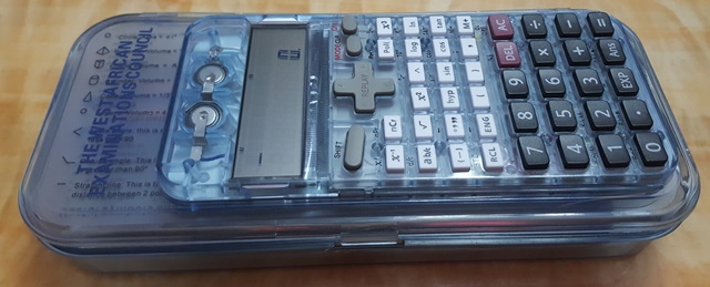 KAPTEK set of mathematical instruments with an in-built scientific calculator