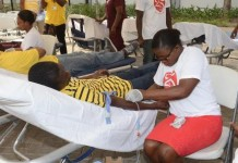 MTN STAFF DONATING BLOOD