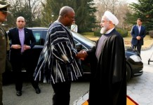 President Mahama with Hassan Rouhani