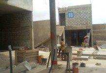 filling station under construction