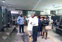 Mr Samuel Okudzato Ablakwa, a Deputy Minister of Education being conducted round.