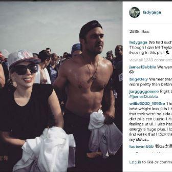 Lady Gaga and Taylor Kinney (c) Instagram