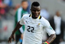 Mubarak Wakaso of Ghana during the 2013 Orange African Cup of Nations match between Ghana and DR Congo on the 20 January 2013, Port Elizabeth ©Muzi Ntombela/BackpagePix