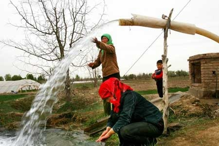 80% underground water undrinkable in China.[File photo]
