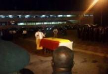 The body of the late Jake Obetsebi-Lamptey