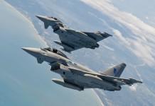 RAF Typhoon Fighter Jets
