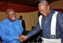 The research expects Nana Akufo-Addo (L) to beat John Mahama (R)