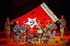 AFP / STR Performers dancing and singing during a Chinese national opera of the