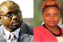 Sen. George M. Weah and Ms. Meapeh K. Gono