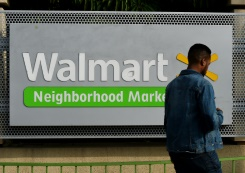 AFP/File / Mark Ralston US retail giant Walmart has reported slightly higher quarterly sales