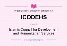 ICODEHS means - Islamic Council for Development and Humanitarian Services