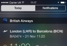 British Airways IOS Widget (C) BA