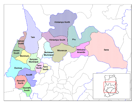 Brong Ahafo districts