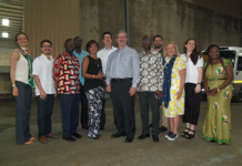 Mr. Osei Badu, third from (L) with Mexican Business delegation and staffs of GFZB