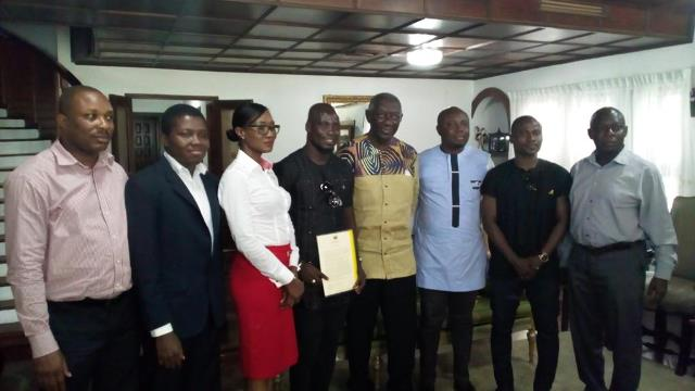 Former president Kufuor with Appiah and Primeval team