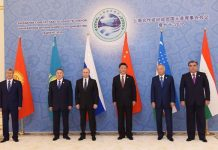 Chinese President Xi Jinping (3rd R) and leaders of other Shanghai Cooperation Organization (SCO) member states pose for a group photo before the 16th SCO Council of Heads of State meeting in Tashkent, Uzbekistan, June 24, 2016. [Xinhua]