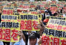 Photos: Mass protest in Okinawa against U.S. military bases after murder