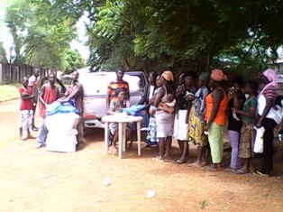 Distribution of Mosquito nets