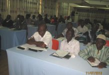These are the participants at the EC capacity building workshop in Tamale.