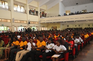 A cross section of National Service Personnel at the Day of Gratitude programme at the Burma Camp