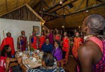 Guests enjoy a traditional dance at the Sentrim Mara Camp