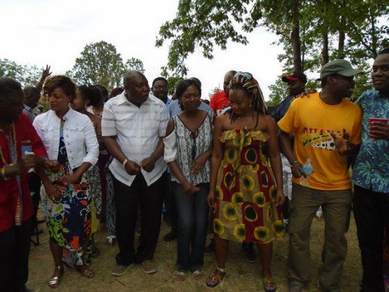 """Ga Adangbe members dancing to """"WO GBEDZE"""" song."""