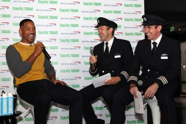 British Airways Pilots Andy Perkins & Will Swinburn talk to Will Smith during an exlusive Q&A session with the airline