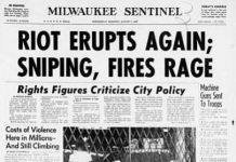 Milwaukee Rebellion newspaper coverage in July 1967