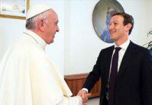 Pope Francis met Facebook