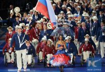 An appeal has been filed against the decision of the International Paralympic Committee (IPC) to ban Russian athletes from the Rio Paralympic Games, a senior Russian sports official says on August 7, 2016. (Xinhua)