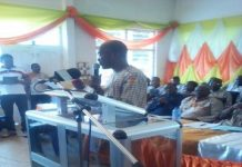 The General Manager of the Bank, Mr Awudu Hayatudeen, addressing the gathering